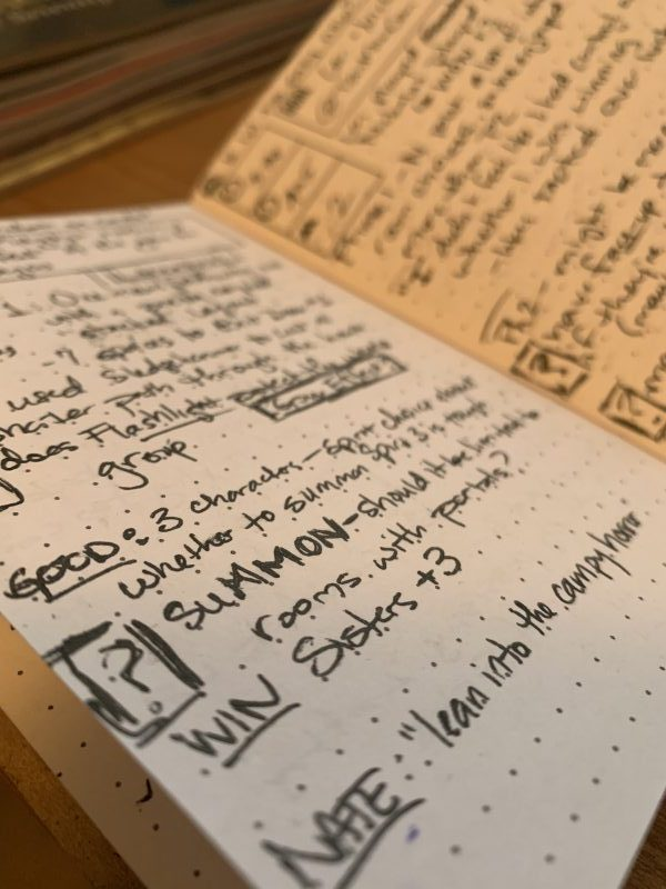 Playtest journal